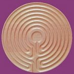 Maple Cretan Finger Labyrinth