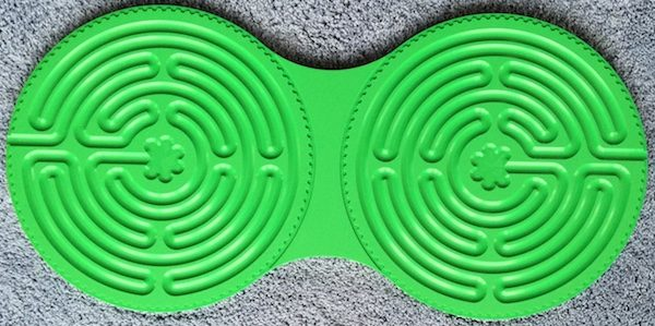 green plastic Chartres Intuipath double finger labyrinth