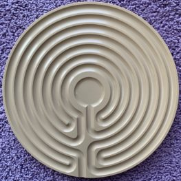tan plastic Cretan finger labyrinth