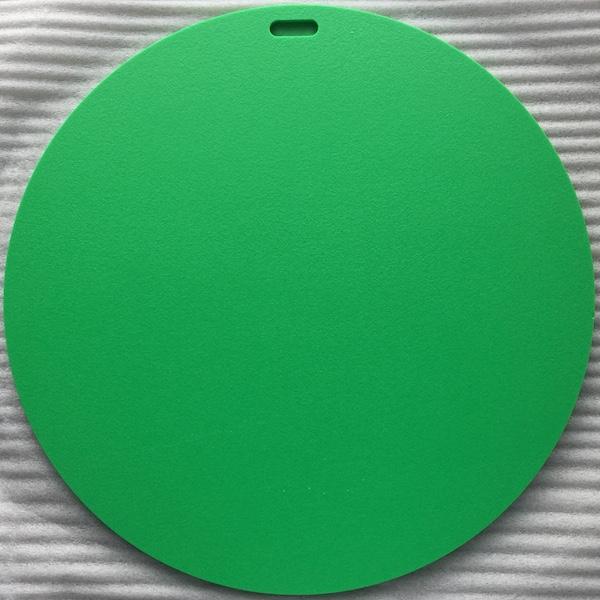 green plastic Chartres labyrinth