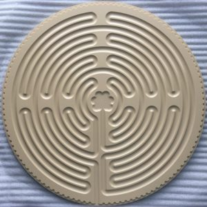 tan plastic Chartres labyrinth