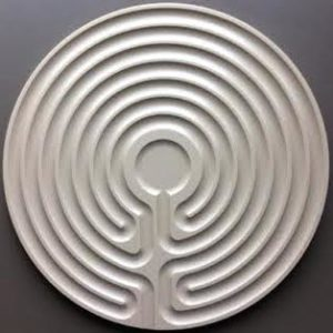 tan plastic Cretan labyrinth