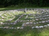outdoor Roman labyrinth at Relax4Life