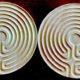 two maple Cretan finger labyrinths