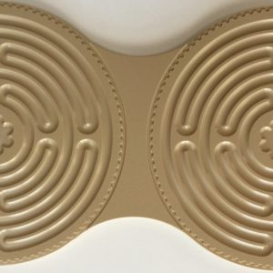 tan plastic Chartres Intuipath double finger labyrinth